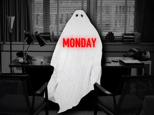 Watch this monday GIF by The GIF Smith (@sannahparker) on Gfycat. Discover more back to work, days of the week, ghost, halloween, jay sprogell, monday GIFs on Gfycat
