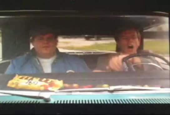 car, chris farley, m&m, tommy boy, M&M in the Dashboard GIFs