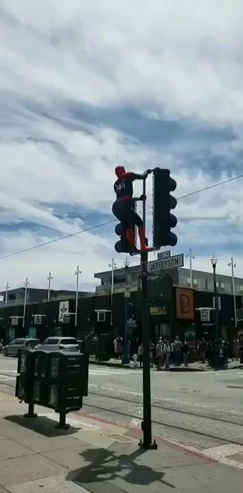 Watch and share Spiderman Dance GIFs by blinkyblink on Gfycat