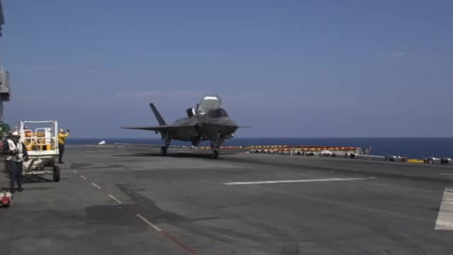 Watch and share F-35Bs Conduct Flight Operations With GBUs At Sea GIFs by ljenkins on Gfycat