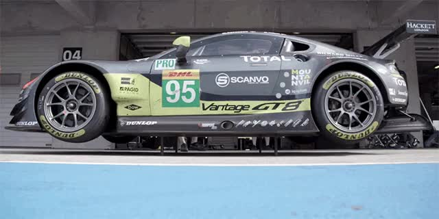Watch and share Driving A Championship Winning Aston Martin Is A Daunting Task GIFs on Gfycat
