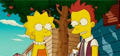 Watch this flirt GIF by The GIF Smith (@sannahparker) on Gfycat. Discover more awww, blush, blushing, flirt, lisa simpson, shy, the simpson GIFs on Gfycat