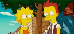 awww, blush, blushing, flirt, lisa simpson, shy, the simpson, Lisa Simpson Blush GIFs