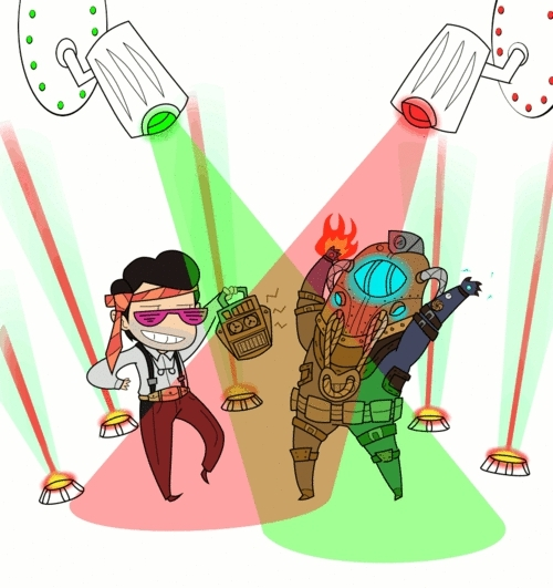 BioShock 2, augustus sinclair, bioshock, epliepsy warning, gif, gif warning, rapture, rave, subject delta, Bioshock 2 Rave bycaboosemcgrief GIFs