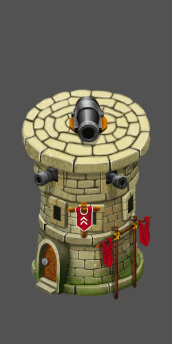 Isometric Cannon Tower Defense GIFs