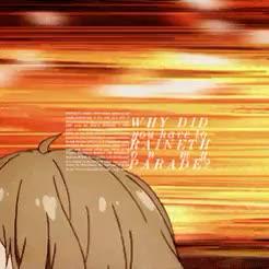 Watch a chemical reaction of epic proportions GIF on Gfycat. Discover more akihito kanbara, gifs mine, graphic, ikyoukai, kanbara akihito, kanbara yayoi, kyoukai no kanata, photoset mine, yayoi kanbara GIFs on Gfycat