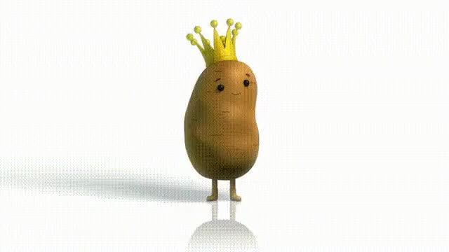 Watch and share A Crowned Potato Dances GIFs on Gfycat