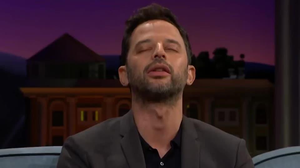 aha, awake, bored, boring, corden, dgaf, james, kroll, late, late late, nick, night, nodd, ok, show, sleep, sleepy, stay, theater, yes, Nick Kroll Can't Stay Awake in Theaters GIFs