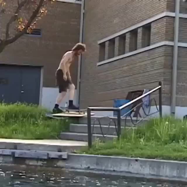 Watch and share Probably The Best Skateboard Trick I've Ever Seen GIFs by HoodieDog on Gfycat