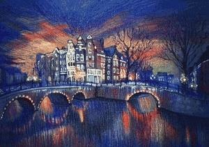 3d, Illustration, amsterdam, animation, art, colored pencil, gif, watercolor pencils,  GIFs