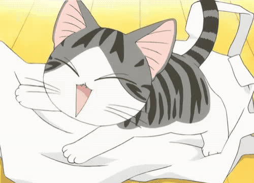 anime, awww, baby, cat, cute, excited, happy, hug, kitty, pet, sweet, Awww cat GIFs