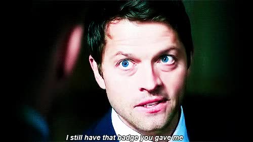 Watch badge GIF on Gfycat. Discover more misha collins GIFs on Gfycat