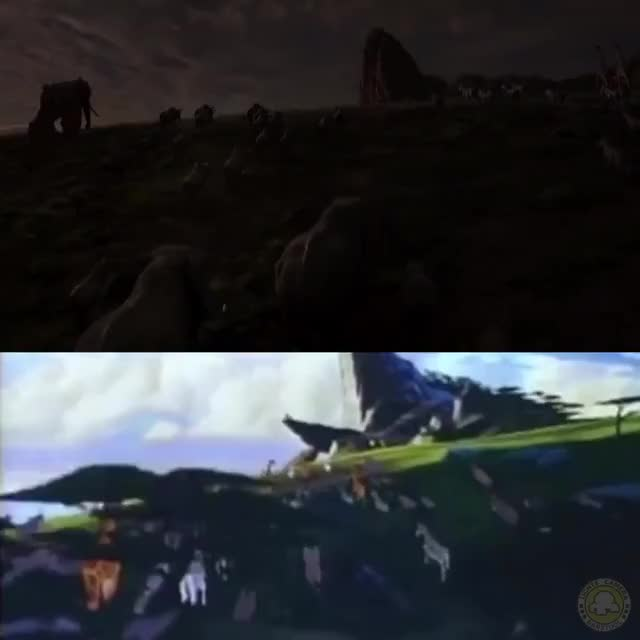 Watch and share Heres A Side-by-side Of The Lion King Trailer With The Same Scenes From The 1994 Original GIFs on Gfycat