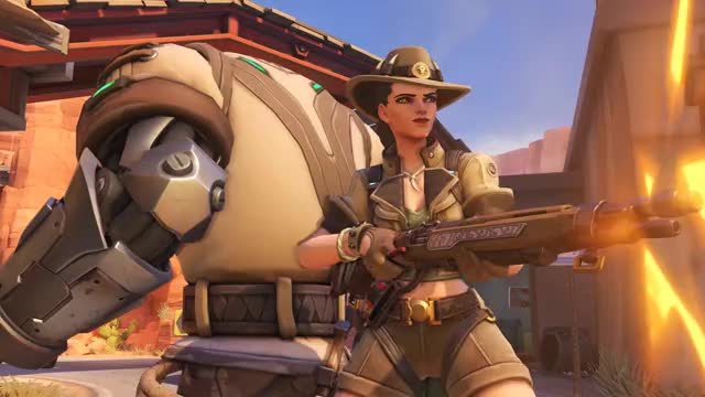 Watch this overwatch GIF by noobinabox on Gfycat. Discover more Ashe, Overwatch, highlight GIFs on Gfycat