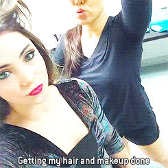 Mckayla Maroney Getting Her Hair And Makeup Done While On Crutches (GIF) GIFs