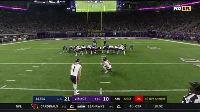 Watch  Cody Parkey hits a FG, not an upright GIF on Gfycat. Discover more related GIFs on Gfycat
