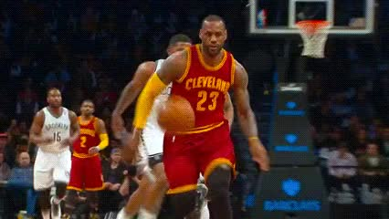 Watch LeBron James, Cleveland Cavaliers GIF by Off-Hand (@off-hand) on Gfycat. Discover more related GIFs on Gfycat