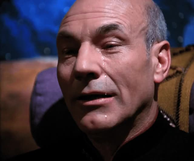 Watch this sad GIF by The GIF Smith (@sannahparker) on Gfycat. Discover more Jean-Luc Picard, crying, patrick stewart, sad, sobbing, star trek the next generation, tears GIFs on Gfycat