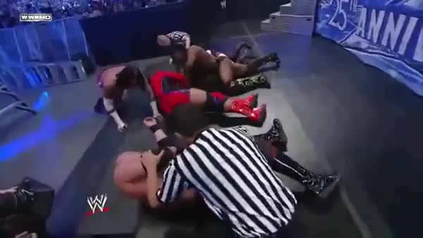 Watch and share Shelton Benjamin Swanton Bomb GIFs by coolhandhazard on Gfycat