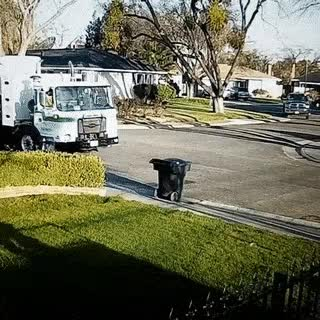 Watch and share Garbage Truck Takes Garbage Can GIFs on Gfycat