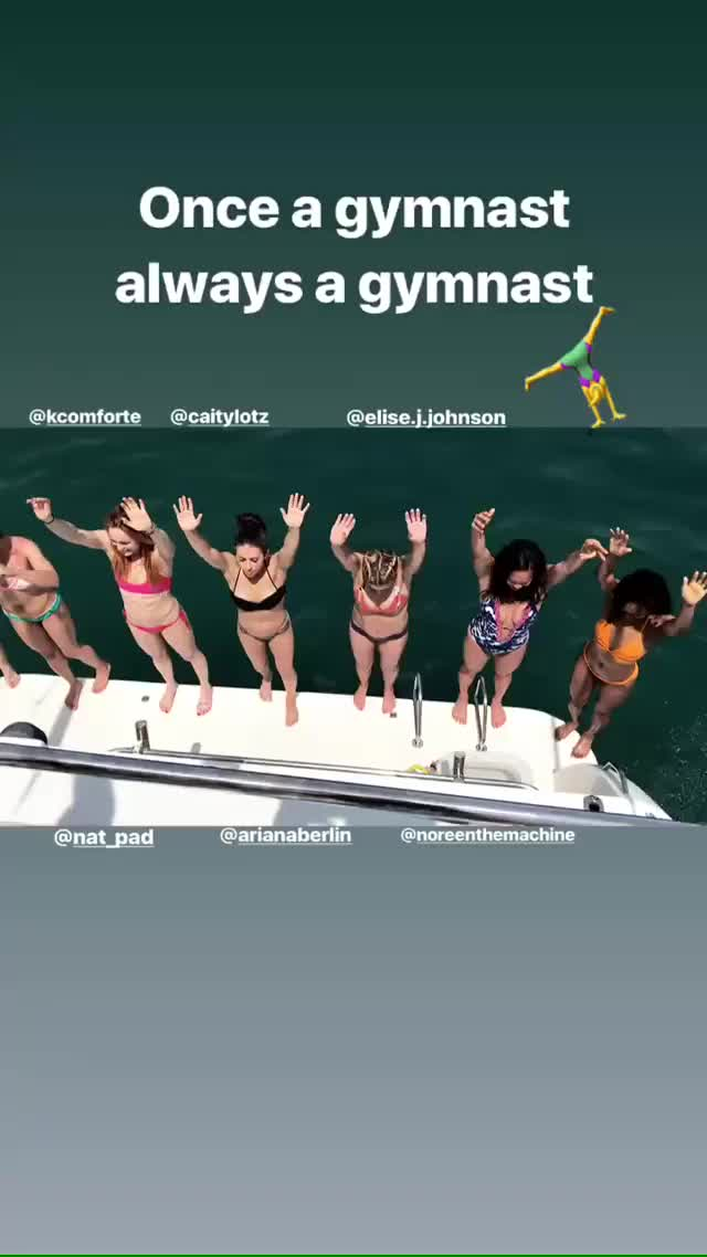 Watch and share Caity Lotz And Friends Jumping Off A Boat GIFs by Cheese bro on Gfycat