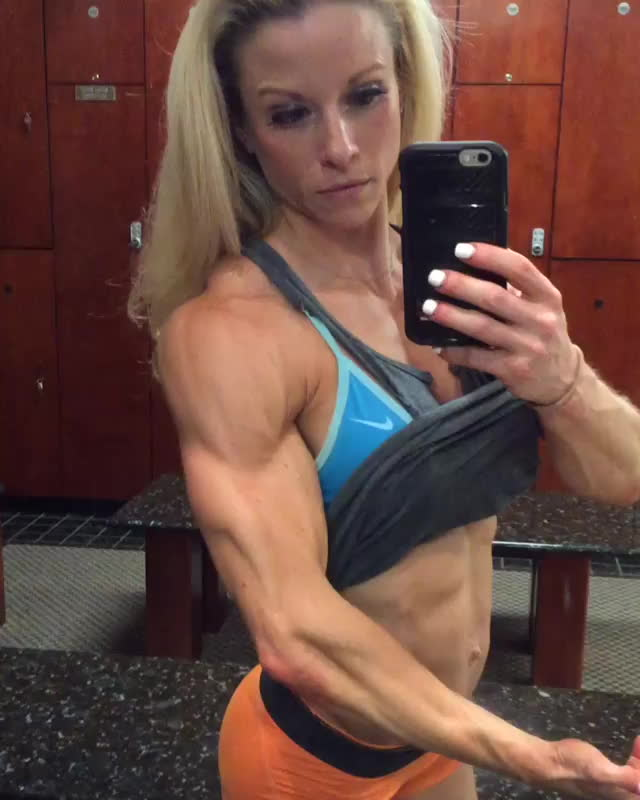 female, muscle, muscleworship, Jessica Williams ripped GIFs