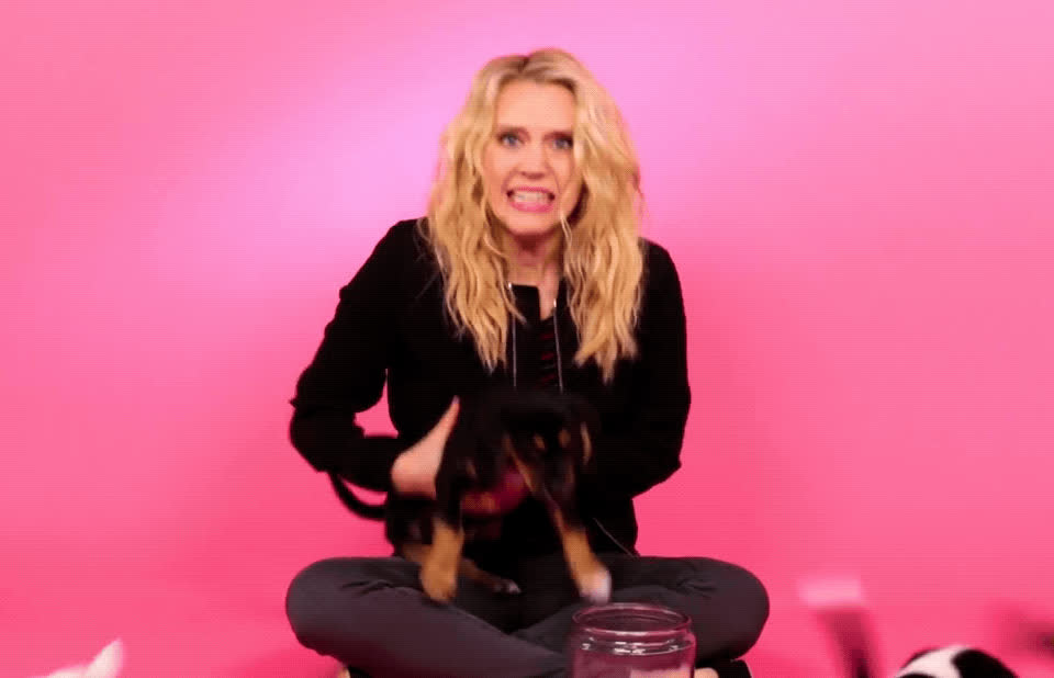 Kate McKinnon, buzzfeed, crazy, excited, national dog day, national pet day, obsessed, omg, puppies, Kate McKinnon OMG GIFs
