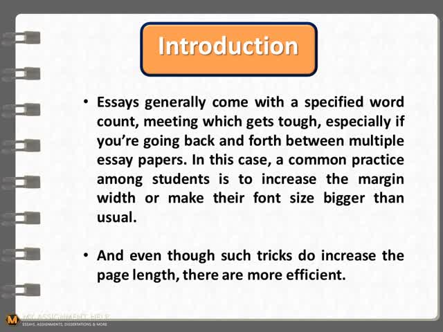 how to make an essay longer word count