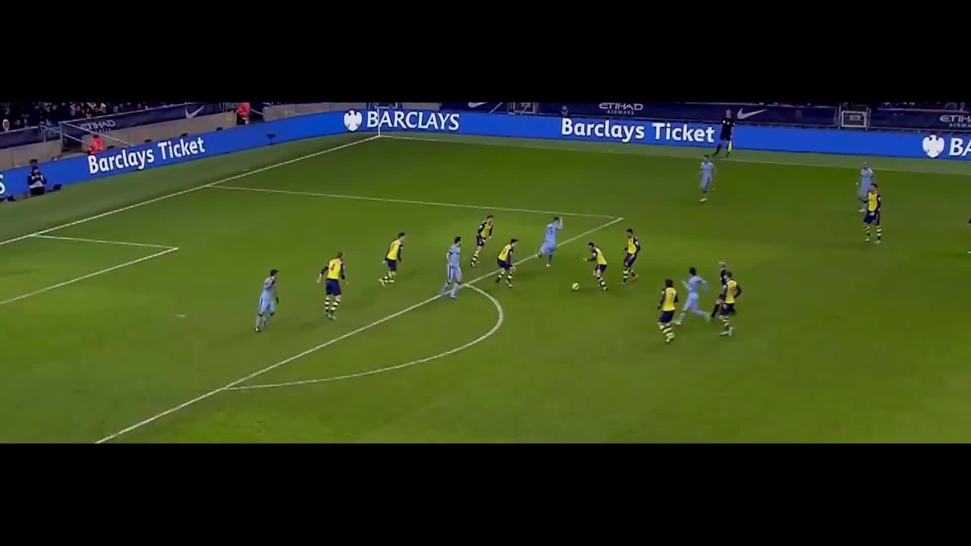 gunners, Santi Cazorla vs Manchester City - Short Version - 18/1/15 HD GIFs