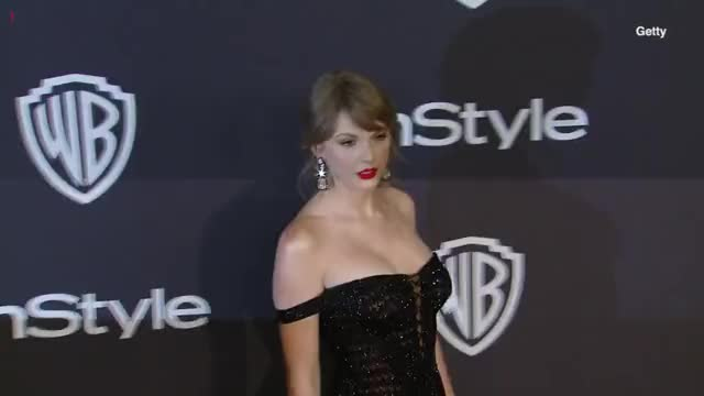 Stunning Taylor Swift Golden Globes After Party [HD VIDEO]