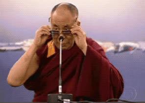 dalai lama, deal with it, sunglasses, Dalai Lama Deal With It GIFs