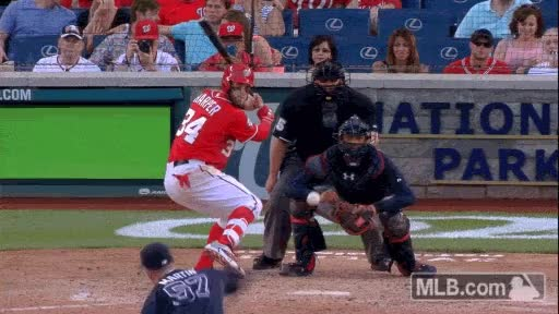 Watch and share Was Harper Walkoff Bat Toss Med GIFs on Gfycat