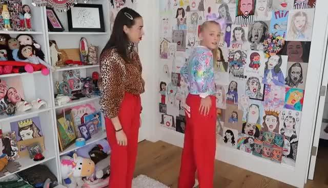DANCING TUTORIAL // Jojo Siwa & Miranda Sings GIFs