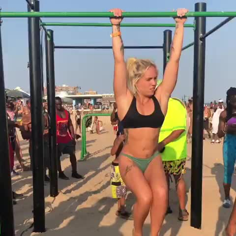 fit, fitness, workout, Skylar Stegner offers her friend support GIFs