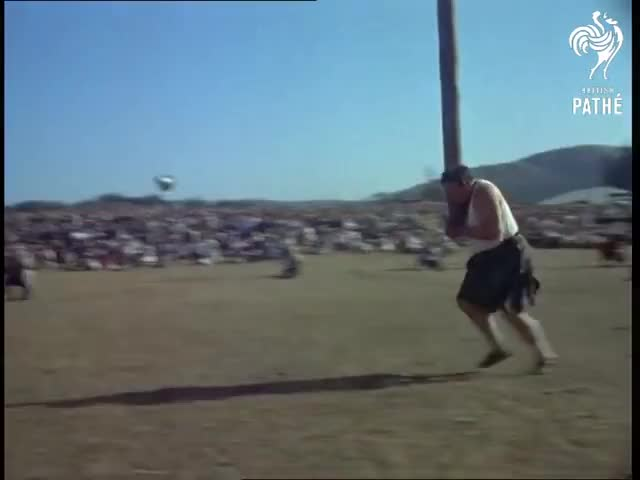 Watch Highland Games (1955) GIF on Gfycat. Discover more Aboyne, CP 042, Flags, Scotland, Scottish, bagpipes, bands, dancing, documentary, traditional GIFs on Gfycat