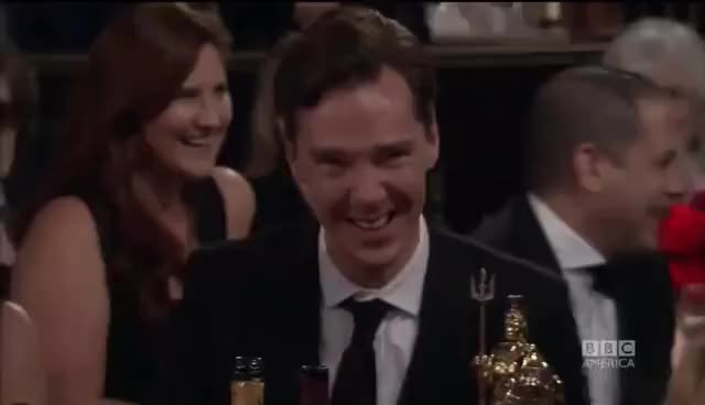 Watch and share Benedict Laughing GIFs on Gfycat
