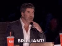 Watch simon cowell, americas got talent, brillant GIF on Gfycat. Discover more related GIFs on Gfycat