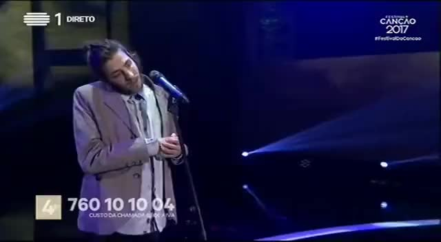 Watch and share Salvador Sobral - Amar Pelos Dois - Final | Festival Da Canção 2017 | RTP GIFs on Gfycat