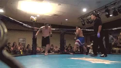 Watch [Image/GIF] Off the cage Superman Punch KO (Heavyweight edition) (reddit) GIF by @docsavage on Gfycat. Discover more mma GIFs on Gfycat