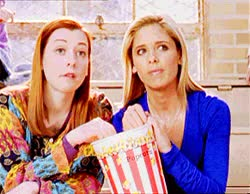 Watch Popcorn whoa GIF by Miss GIF (@mizznaii) on Gfycat. Discover more Sarah Michelle Gellar, popcorn, waiting, watchthis GIFs on Gfycat