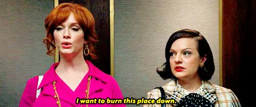 Watch and share Christina Hendricks GIFs and Elisabeth Moss GIFs on Gfycat