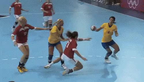 Watch olympic team handball GIF on Gfycat. Discover more related GIFs on Gfycat