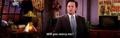 Watch this marry me GIF on Gfycat. Discover more marry me, matthew perry, proposal, propose, will you marry me GIFs on Gfycat