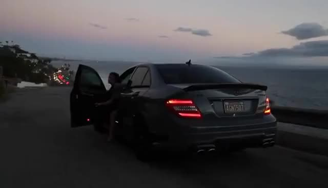 Watch and share Girl Takes A Mercedes C63 AMG Out For A Spin! GIFs on Gfycat