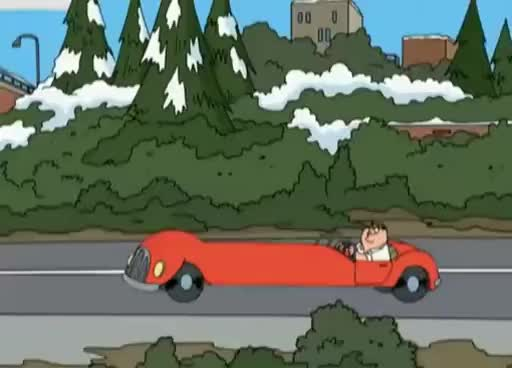 Watch and share Family Guy - Long Red Car GIFs on Gfycat