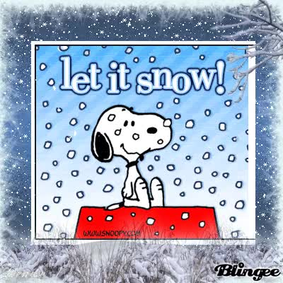Watch and share Snoopy Dog Wishes Let It Snow Snowfall Animated Picture GIFs on Gfycat