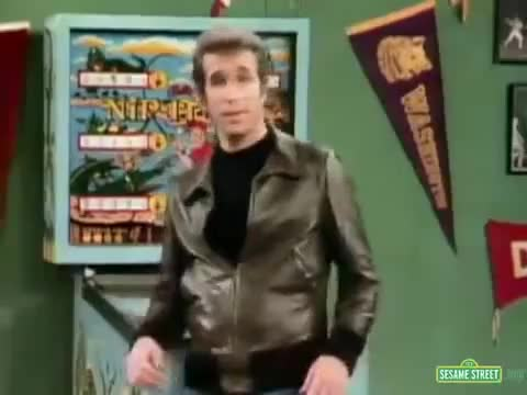 Watch this fonzie GIF on Gfycat. Discover more fonzie, fonzie (fictional character), happy days, henry winkler, henry winkler (film actor), matthew mcconaughey, sesame street (tv program) GIFs on Gfycat