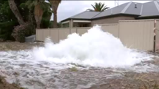 Watch and share One Of The Burst Adelaide Water Mains Gushes GIFs on Gfycat