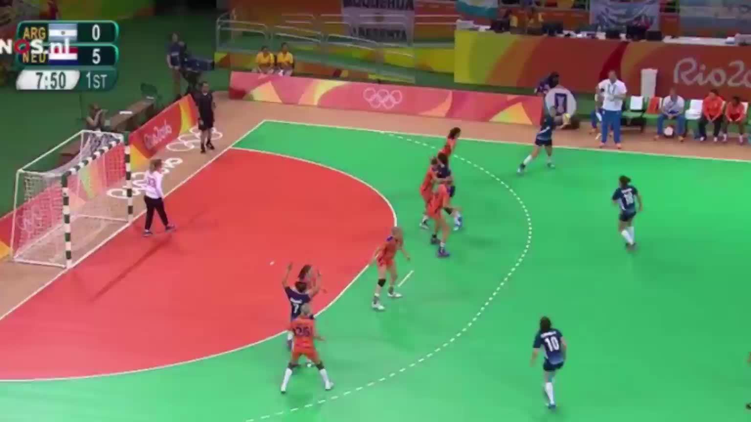 Wester, handball, olymgifs, Tess Wester scores a full pitch goal GIFs