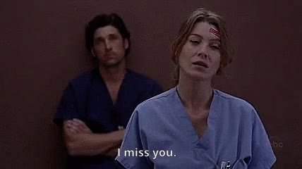 Watch and share Ellen Pompeo GIFs and I Miss You GIFs on Gfycat